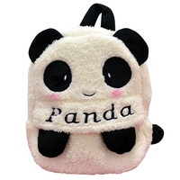 "Black and White Animal Pattern ""Panda"" Print Backpack"