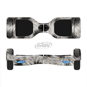 The Dotted Black & White Animal Fur Full-Body Skin Set for the Smart Drifting SuperCharged iiRov HoverBoard