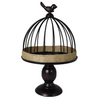Splendid Metal Bird Cage, Large By Benzara