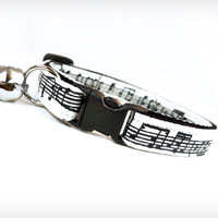 "Cat Collar - ""Aria"" - White & Black Music Notes"