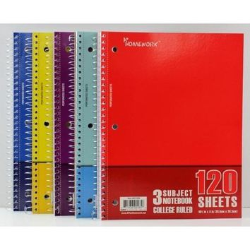 Case of [24] Notebook - 120 sheets - 3 subject - College Ruled