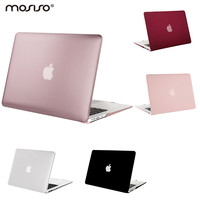 Mosiso Rubberized Laptop Sleeve Plastic Hard Case for Apple Macbook Air 11 13 inch A1465 A1370 / A1369 A1466 Shell Cover