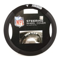 NFL New England Patriots Poly-Suede Steering Wheel Cover