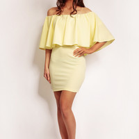 Yellow Dress With Big Frill