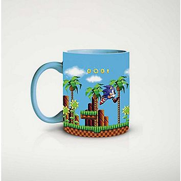 In Out Print Sonic The Hedgehog Mug 20 oz - Spencer's