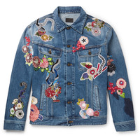 Saint Laurent - Embroidered Denim Jacket