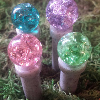 Miniature gazing balls. Your choice of colors.