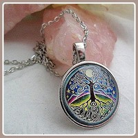 Tree of Life Dome Amulet Necklace