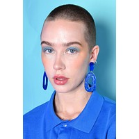 Confetti Dangle Earrings - Royal Blue