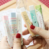 Elegant Long Cleansing Drawing Painting Rubber Eraser Stationary Gift 1pc     TB