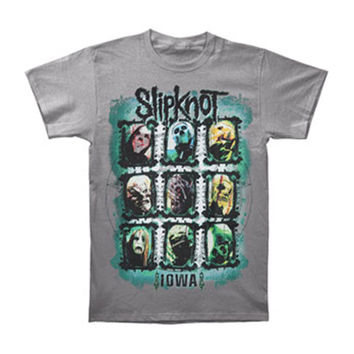 Slipknot Men's  Colors Grid T-shirt Charcoal Rockabilia