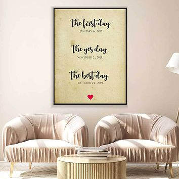 The Best Day Custom Canvas Set