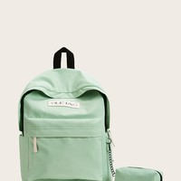 Minimalism Backpack With Pouch Set 2pcs