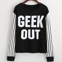 Geek Out Black and White Casual T-Shirt