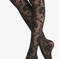 BAROQUE LACE SHEER FULL TIGHTS from EXPRESS