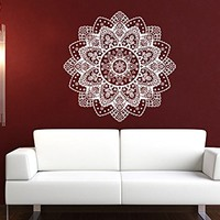 Wall Decal Mandala Vinyl Sticker Decals Lotus Flower Yoga Namaste Indian Ornament Moroccan Patern Om Home Decor Art Bedroom Design Interior C558