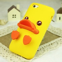 Rubber Duck Soft Silicon Phone Case For iPhone 5/5S (Blue)