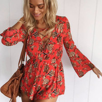 Cicely Floral Playsuit