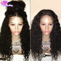 Unprocessed Virgin Full Lace Wig Brazilian Glueless Curly Full Lace Human Hair Wigs High Ponytail Lace Front Wigs With Baby Hair