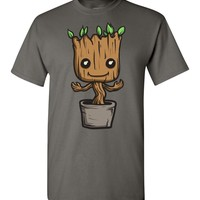 Charcoal Baby Groot by request