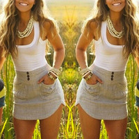 Women's Trending Popular Fashion Summer Beach Holiday Sexy Package Hip Round Necked Sleeveless Handkerchief Erotic Casual Party Playsuit Clubwear Bodycon Boho Dress _ 8860