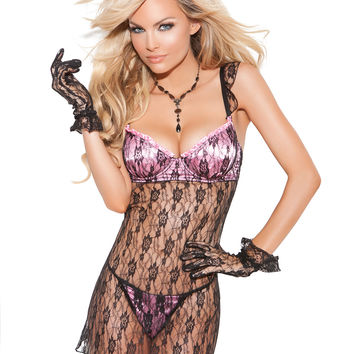 Sweet Satin and Lace Babydoll