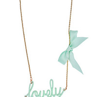Lovely Nameplate Necklace