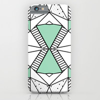Ab Lines and Spots Mint iPhone & iPod Case by Project M