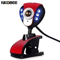 NKOBEE 6 LED USB Webcam Camera with Mic & Night Vision for Desktop PC Laptop Clip-On USB 2.0 800x600 Computer accessories