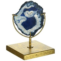 "Indigo Blue Agate Decor on Stand | 6-3/4""H"