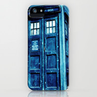 Doctor Who - Tardis iPhone & iPod Case by Hands in the Sky