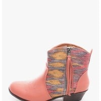 Coral Country Side Ankle Boots   $10.0   Cheap Trendy Boots Chic Discount Fashion for Women   ModDe