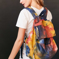 Tie-Dye Bungee Cord Backpack - Urban Outfitters