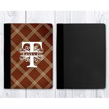 Customized Notebooks | Personalized Office Accessories | Personalized Journal | Brown Argyle