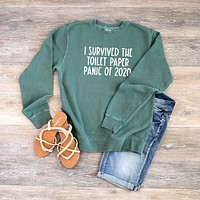 I Survived the Toilet Paper Panic of 2020 | Colorful Sweatshirt