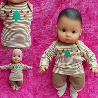 """15 inch Baby Doll Clothes """"Moose Time"""" Will fit Bitty Baby® and twins playset top pants moose outdoors O4"""