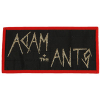 Adam And The Ants Men's Logo Red Woven Patch Red