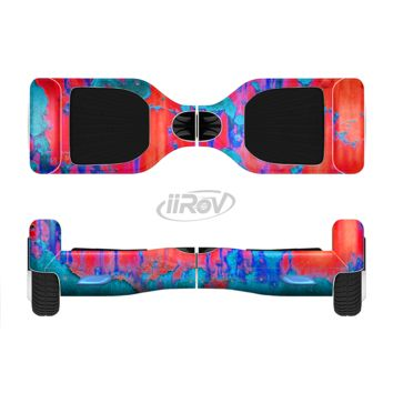 The Bright Red v2 Metal with Turquoise Rust Full Body Skin Set for the Smart Drifting SuperCharged Transportation iiRov