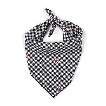 Black Gingham Holiday Bandana