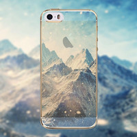 Beautiful Mountains Transparent Soft TPU Crystal Phone Cover Case Shell For Apple iPhone 6 6s