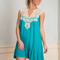 Happy Go Lucky Tunic, Turquoise
