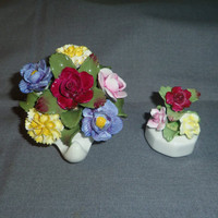 Flower Floral Bouquet, Aynsely England, Bone China (2)