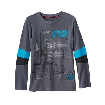 Star Wars: Episode VII The Force Awakens a Collection for Kohl's X-Wing Fighter Tee - Boys 4-7x, Size: