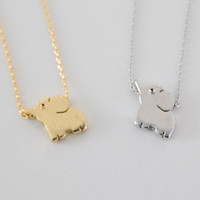 Baby Elephant Pendant Necklace