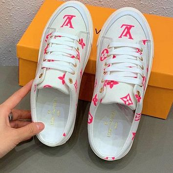 Bunchsun LV 2020 Early spring new product Spring Trunk show slippers Pink Letters