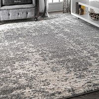 nuLOOM Contemporary Granite Mist Shades Grey Rug (7'6 x 9'6) | Overstock.com Shopping - The Best Deals on 7x9 - 10x14 Rugs