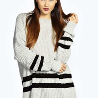 Maisie Sporty Stripe Tunic Jumper