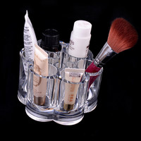 Crystal Make Up Cosmetic Storage Container Bathroom Organizer Jewelry Case Acrylic Makeup Pen Box