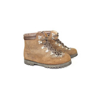 7 | Vintage Summit Italian leather hiking boots  / alico /  hand crafted in italy / mountaineering / walking / grunge / lace up / size 7