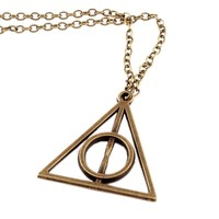 Hip Mall Deathly Hallows Metal Gold Necklace Pendant Harry Potter Movie